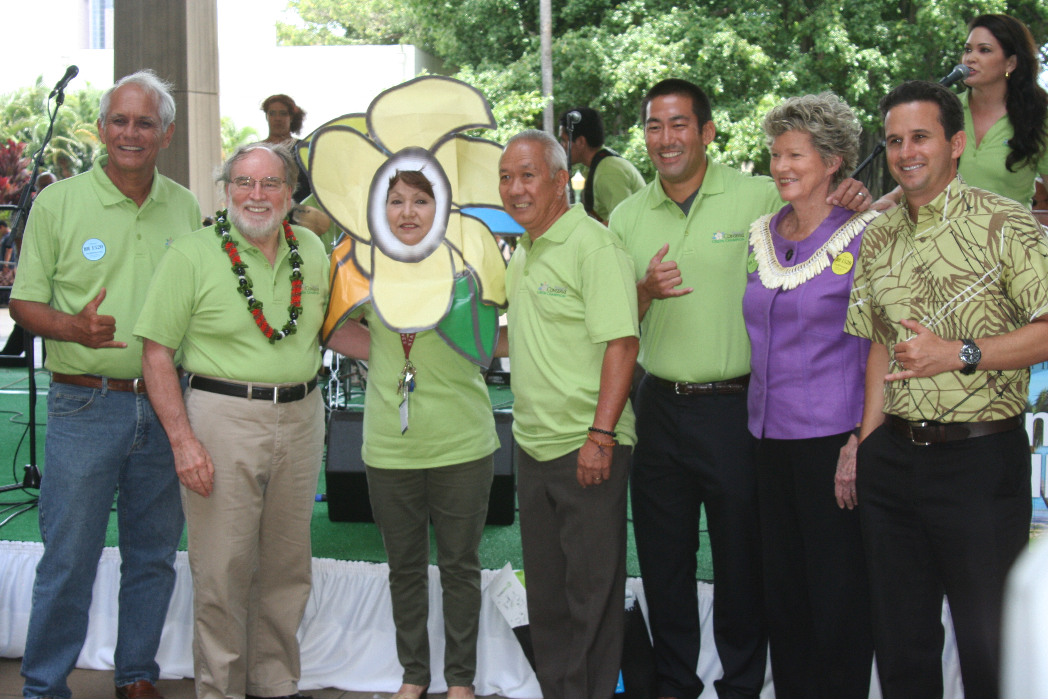 Here's a past picture of Speaker Calvin K.Y. Say (4th from the left) with his colleagues in elected office enjoying a community event at the Hawaii State Capitol.