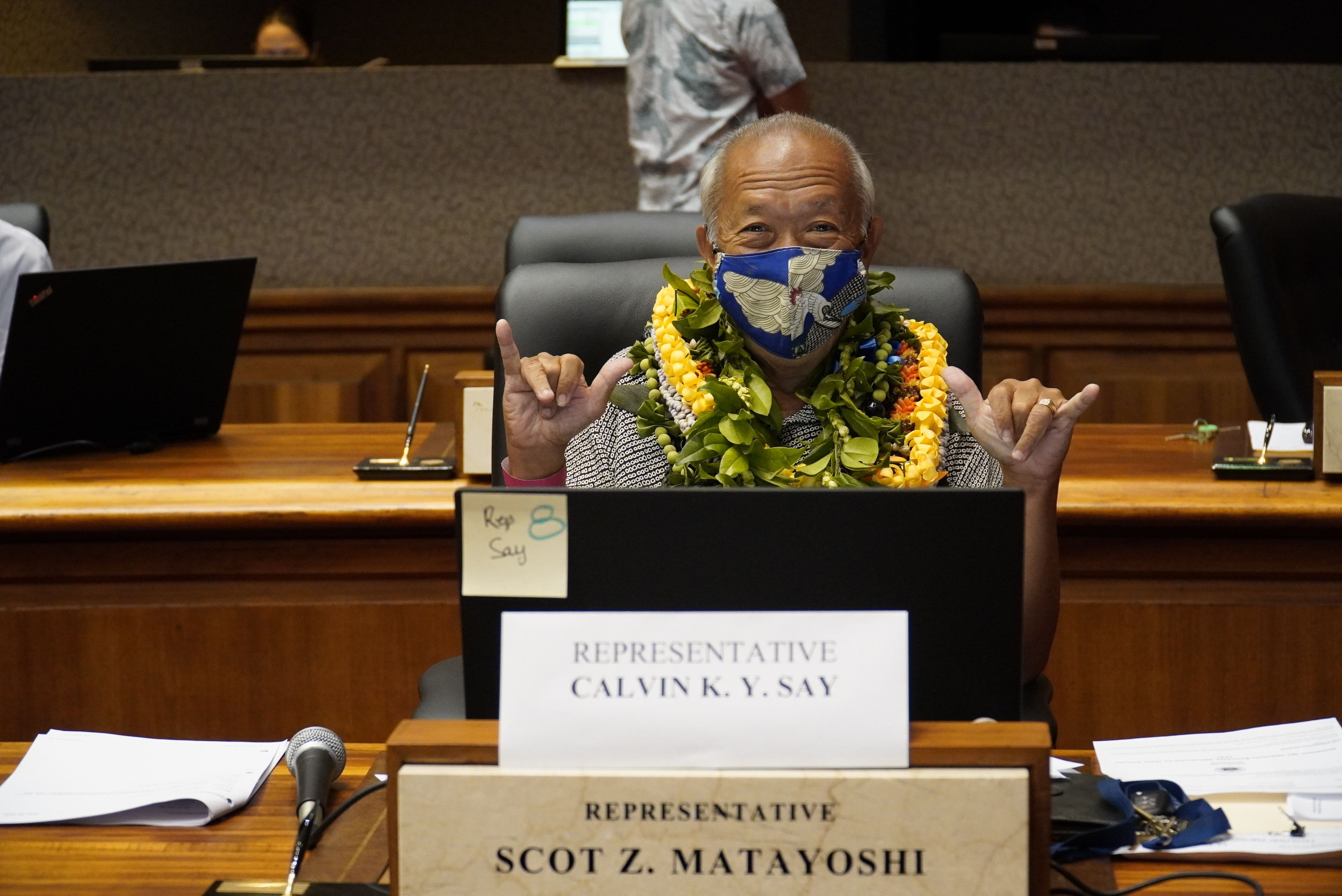 Speaker Calvin K.Y. Say serving his last day for the 2020 Hawaii Legislative Session.