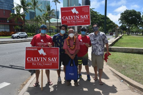 DSC_3738 Calvin K.Y. Say sign wavers