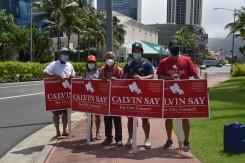 DSC_3742 Calvin K.Y. Say sign wavers